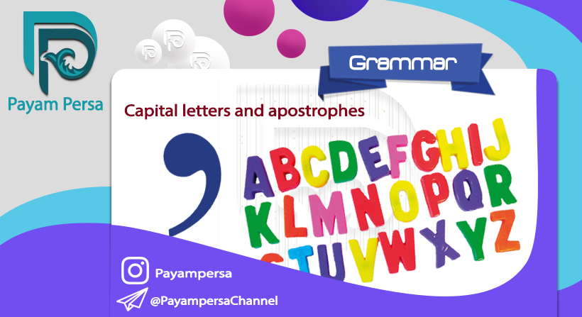 Capital letters and apostrophes