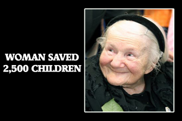 WOMAN SAVED 2,500 CHILDREN